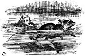 John Tenniel illustration for The Pool of Tears